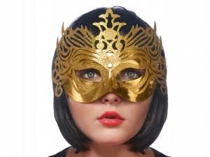 Maski Weneckie - Maska karnawałowa Wenecka złota z ornamentem / MAS2-019