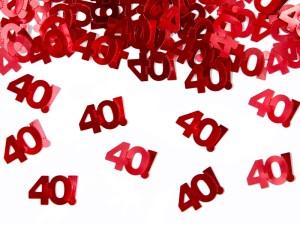 """Konfetti cyfry i liczby - Konfetti metalizowane cyferka """"40"""" / KONS35-40"""