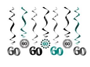Girlandy cyfry i liczby - Świderki dekoracyjne na 60 urodziny / SWID18