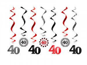 Girlandy cyfry i liczby - Świderki dekoracyjne na 40 urodziny / SWID16