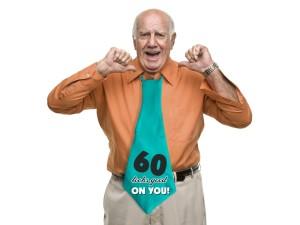 """Krawaty - Krawat dla Jubilata na 60 urodziny """"60 looks good on you"""""""