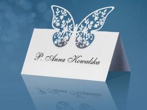 Wizytówki na stół Motyl
