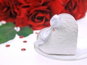 Pudełeczka Serduszko, biały