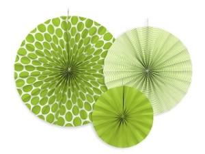 Rozety dekoracyjne, j. zielony,