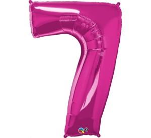 """Balony foliowe cyfry 86 cm - Balon foliowy SuperShape cyfra """"1"""", różowy / 86 cm"""