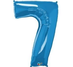 """Balon foliowy 34"""" QL """"Number 7"""", niebieski"""