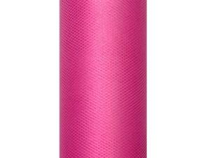 Tiul gładki, różowy, 0,15 x 9m