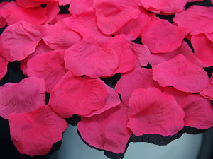 Płatki róż w woreczku, różowe
