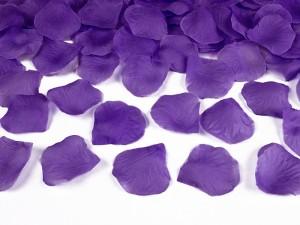 Płatki róż w woreczku, fioletowe