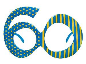 Okulary 60, niebieski