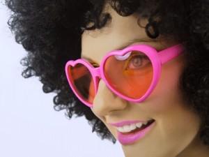 Okulary - Okulary Serduszka różowe