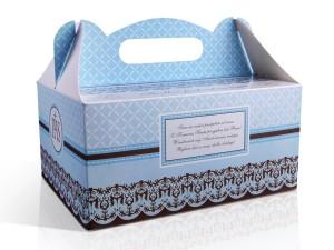Pudełka na ciasto komunijne - Ozdobne pudełka na ciasto komunijne / PUDCS6/B