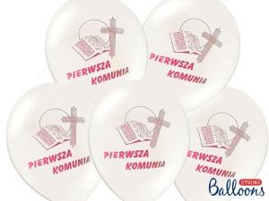 Balony komunijne - Balony Komunijne I Komunia Święta / SB12P-109R-008/6