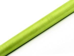Organza Gładka, jasna zieleń, 0,36x9m