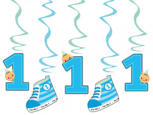 Girlandy cyfry i liczby - Świderki dekoracyjne na 1 urodziny / SWID10/B