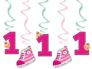 Girlandy cyfry i liczby - Świderki dekoracyjne na 1 urodziny / SWID10/R
