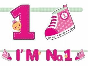"""Girlandy napisy - Girlanda """"I`m No. 1"""" na Roczek / GRL10-R"""