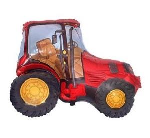 """Balony foliowe o nietypowych kształtach - Balon foliowy czerwony """"Traktor"""" / 61 cm"""