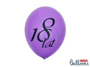 """Balony lateksowe cyfry i liczby - Balony na 18 urodziny """"18 lat"""", mix / SB12P-110-000/6"""