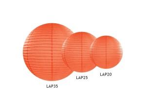 Lampion papierowy, pomarańczowy, 35cm, 1szt.