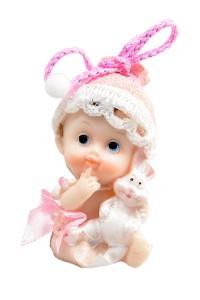"""Figurki na tort - Figurka na tort """"Dziewczynka z króliczkiem"""" / 6 cm"""
