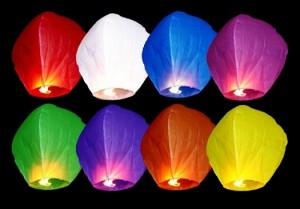 Lampiony latające - Lampiony latające, mix / 37x53x95cm