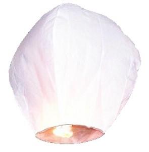 Lampion latający, biały, 33 x 48 x 86cm