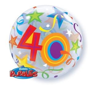 """Balony foliowe na okrągłe urodziny - Balon foliowy Bubble """"Liczba 40"""", 55 cm / 24170"""