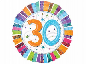 """Balony foliowe na okrągłe urodziny - Balon foliowy na """"30 urodziny"""" / 1606901"""