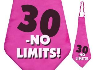 """Krawaty - Krawat dla Jubilata na 30 urodziny """"No limits!"""" / KW1"""