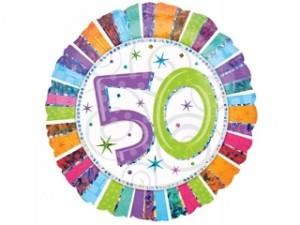 """Balony foliowe na okrągłe urodziny - Balon na urodziny foliowy na """"50 urodziny"""" / 1607101"""