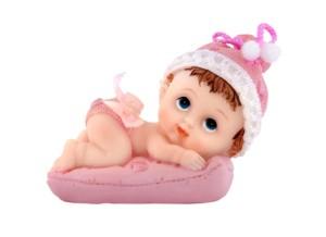 """Figurki na tort - Figurka na tort """"Dziewczynka z poduszką"""" / 9 cm"""