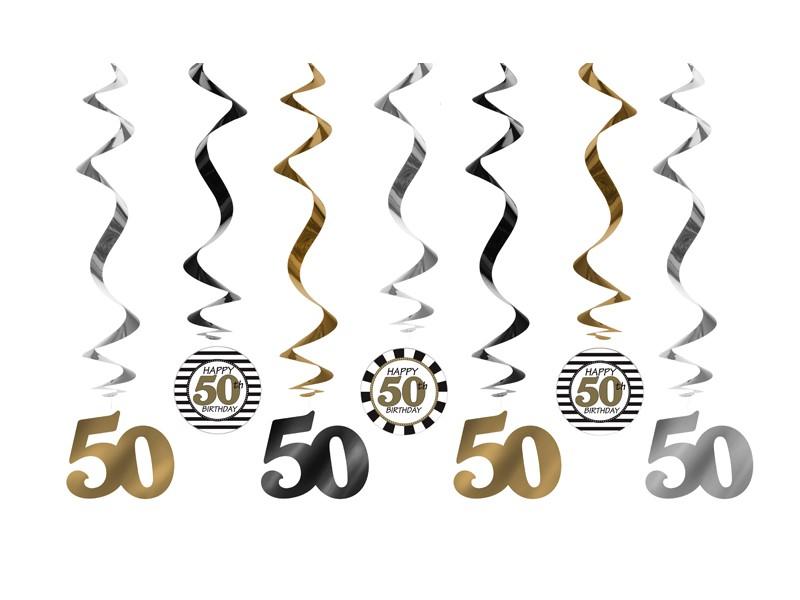 Zaproszenia na 50 urodziny, balony na 50, akcesoria na 50