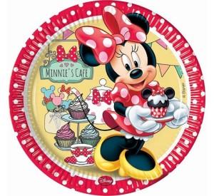 """Talerzyki papierowe """"Minnie Cafe"""", 23 cm"""