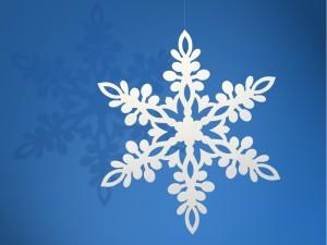 Dekoracje papierowe Śnieżynka, biały, 11cm