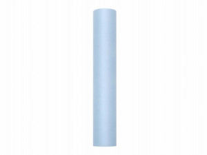 Tiul gładki, błękit, 0,3 x 9m