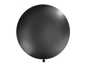 Balony lateksowe Olbo - Balon lateksowy OLBO - pastelowy czarny / średnica 1 m
