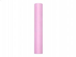 Tiul gładki, j. różowy, 0,3 x 9m