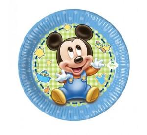 """Talerzyki papierowe """"Mickey Baby"""" 20 cm, 8 szt"""