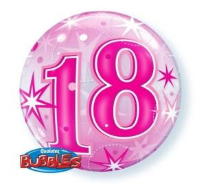 """Balony foliowe z cyframi i liczbami - Balon foliowy Bubble 18 Urodziny"""", 55 cm / 43122"""
