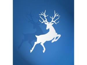 Dekoracje papierowe - Zawieszki Rudolf, biały, 9,4 x 14,5cm