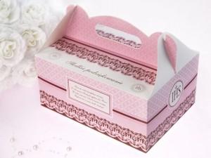 Pudełka na ciasto komunijne - Ozdobne pudełka na ciasto komunijne / 19x14x9 cm PUDCS6R