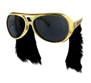 Okulary - Okulary z baczkami Elvis