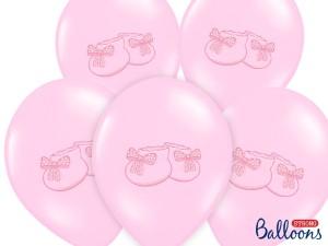 """Balony lateksowe z nadrukiem - Balony na Narodziny dziecka lateksowe """"Bucik"""" / SB14P-225-081J/6"""
