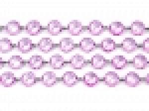 Girlanda kryształowa, liliowy, 1m