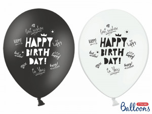 Balony 30cm,Happy Birthday,pastel mix