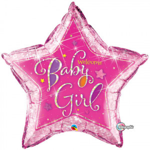 Balon foliowy 36 ''Welcome Baby Girl''