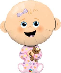 "Balon foliowy 38'' ""Baby Girl"""