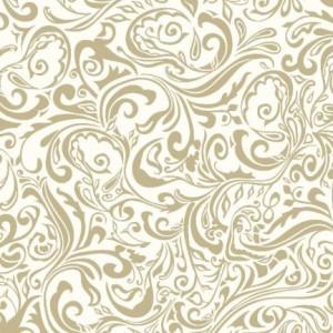 """Serwetki flizelinowe ze wzorem - Serwetki flizelinowe wzorzyste """"Lias"""", kremowo-beżowe / 40x40"""