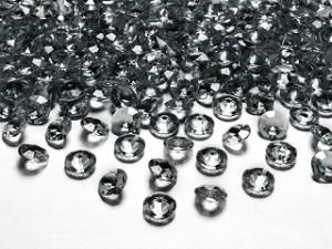 Diamentowe konfetti, szary, 12mm